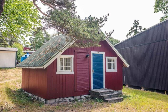 Kneippbyns campingstuga på Gotland