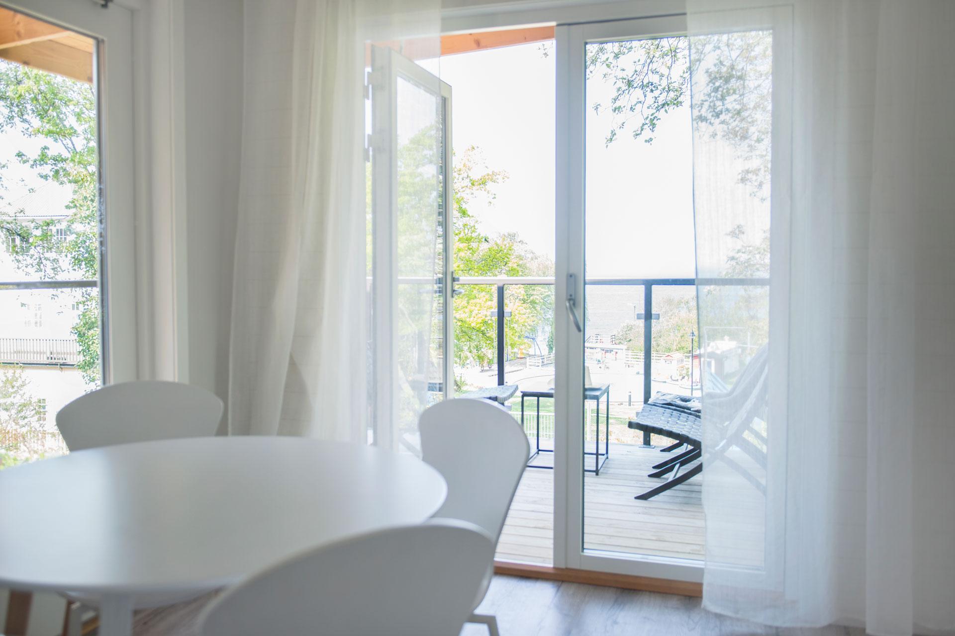 Utsikt från rum i Kneippbyns b&b Visby