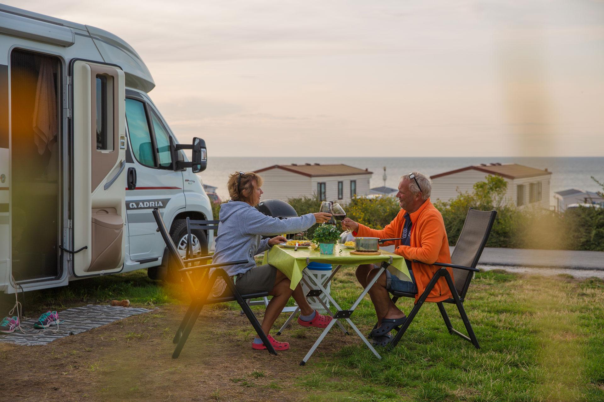 Utsikt från Kneippbyn Camping Visby Gotland