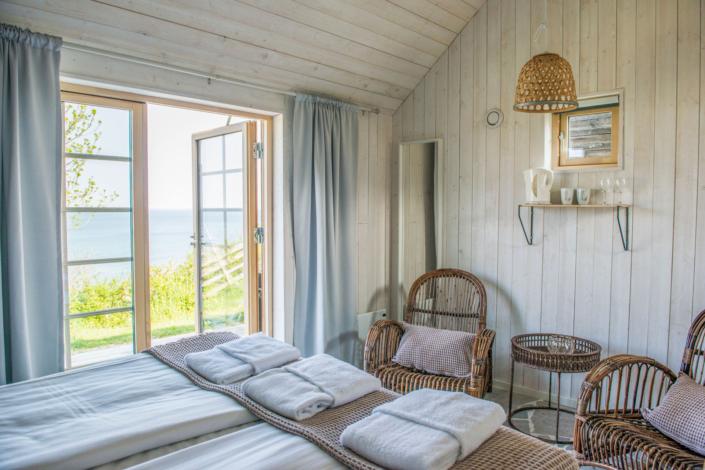 Havsutsikt från Kneippbyns fiskestuga på Gotland