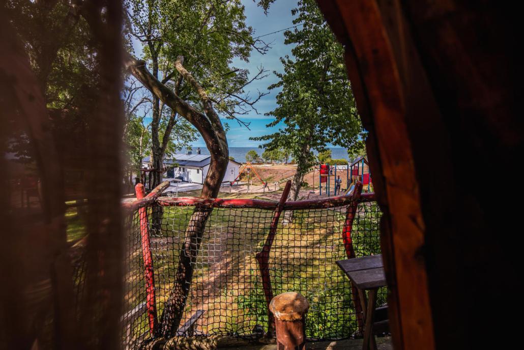 Bo i trädkoja på Gotland, Kneippbyn
